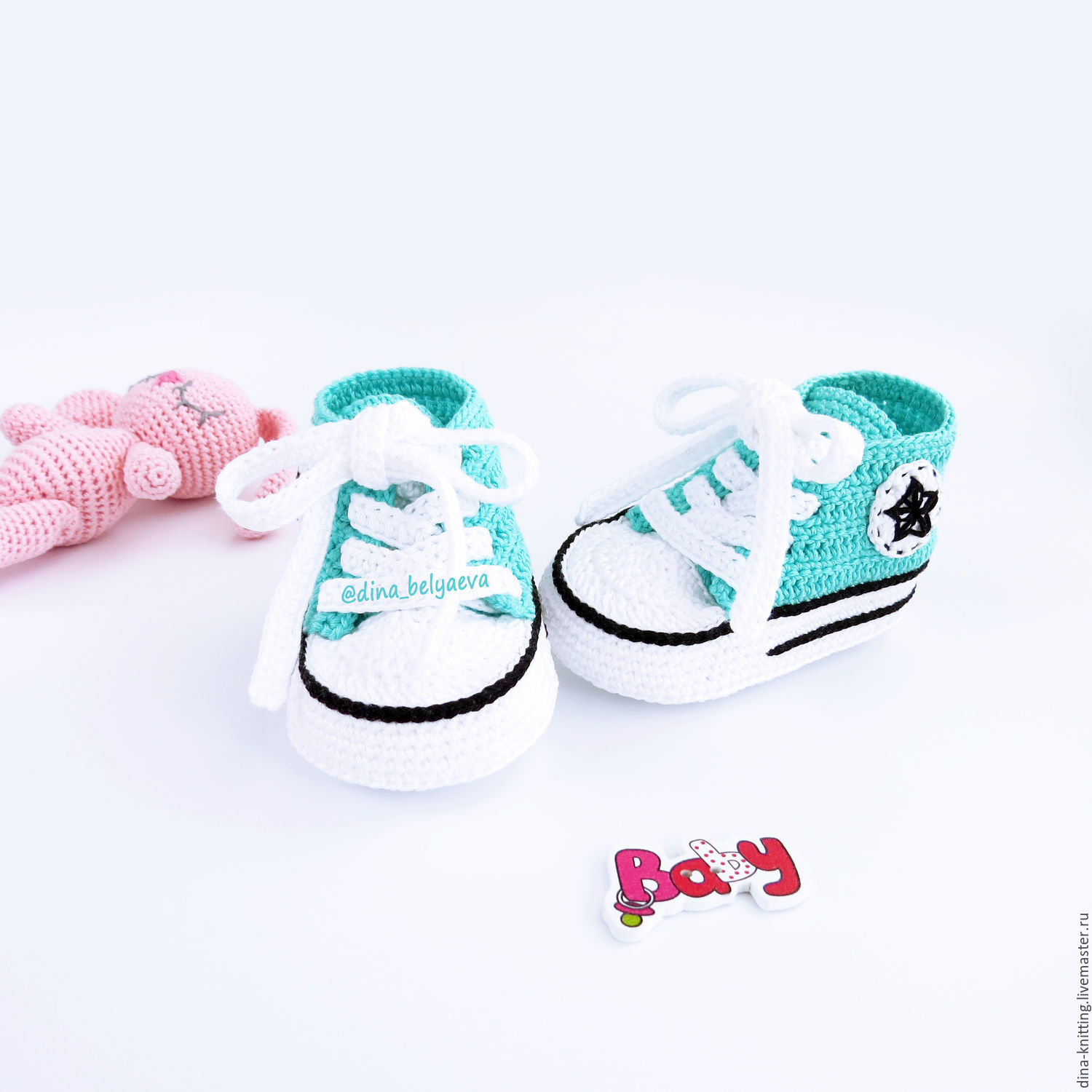 booties crocheted shoes booties baby knitted converse turquoise