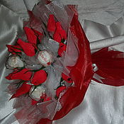 Цветы и флористика ручной работы. Ярмарка Мастеров - ручная работа Букет из конфет.. Handmade.