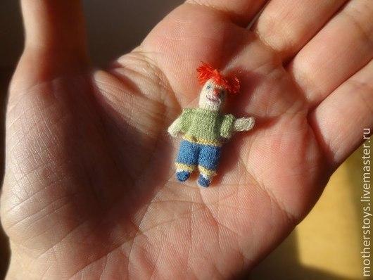 Миниатюра ручной работы. Ярмарка Мастеров - ручная работа. Купить Клоун. Handmade. Зеленый, миниатюра, кукла текстильная, кукольные аксессуары