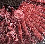 Материалы для творчества ручной работы. Ярмарка Мастеров - ручная работа Кружевной набор 385 вышивка на сетке, шебби ленты, набор с кружевом. Handmade.