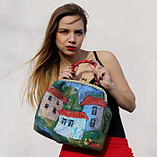 Сумки и аксессуары handmade. Livemaster - original item Felted City bag. Handmade.