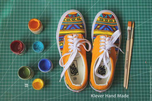 Обувь ручной работы. Ярмарка Мастеров - ручная работа. Купить Кеды Этника. Handmade. Комбинированный, кеды, обувь ручной работы