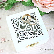 Свадебный салон handmade. Livemaster - original item Jewelry box for engagement rings. Handmade.