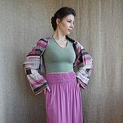 Одежда ручной работы. Ярмарка Мастеров - ручная работа Шраг-болеро-шарф  Розовая геометрия. Handmade.