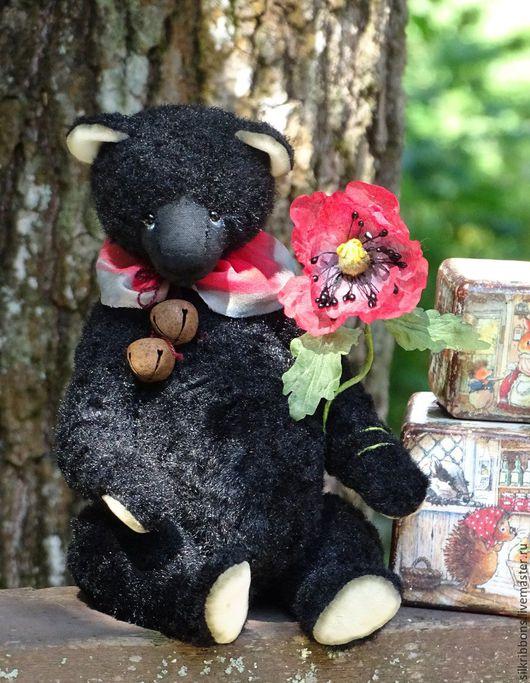 Мишки Тедди ручной работы. Ярмарка Мастеров - ручная работа. Купить Черный плюшевый мишка Тедди Черныш. Handmade. Черный