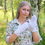 Аксессуары handmade. Livemaster - original item Mittens: Openwork down mittens for women handmade. Handmade.