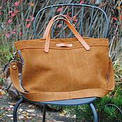 handmade. Livemaster - original item Camel velour tote bag. Handmade.