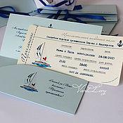 Свадебный салон ручной работы. Ярмарка Мастеров - ручная работа Приглашение в виде билета на лайнер. Handmade.