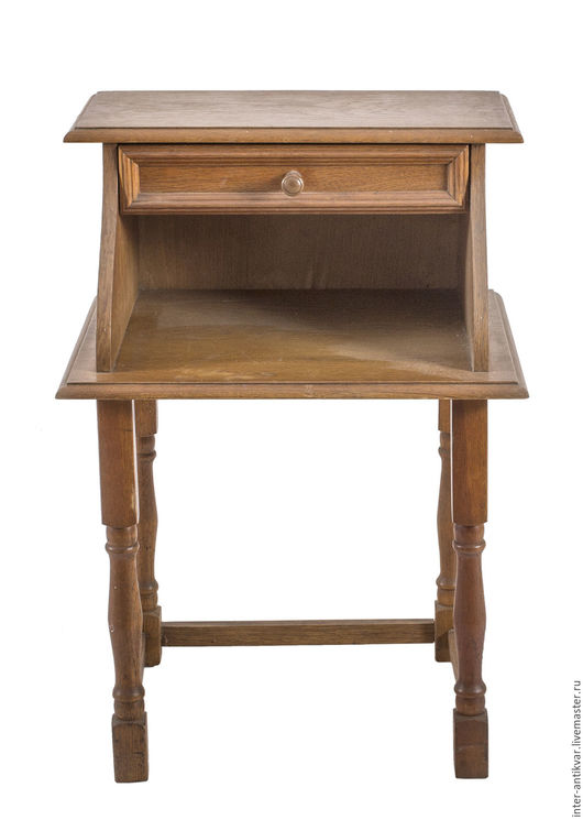 Мебель ручной работы. Ярмарка Мастеров - ручная работа. Купить Пристенный столик-подставка с полочкой 17ФТ0019. Handmade. Коричневый, дерево