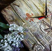 """Для дома и интерьера ручной работы. Ярмарка Мастеров - ручная работа Часы """"На затерянных улочках свет фонарей"""". Handmade."""