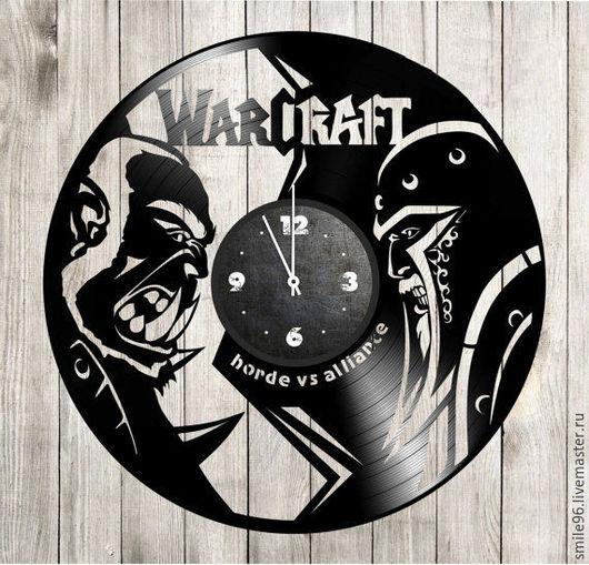 """Часы для дома ручной работы. Ярмарка Мастеров - ручная работа. Купить Часы из пластинки """"WarCraft"""". Handmade. Warcraft, часы"""