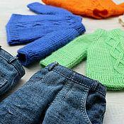Одежда для кукол ручной работы. Ярмарка Мастеров - ручная работа Джинсы и свитер для куклы Paola Reina. Handmade.