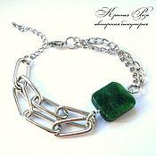 Украшения handmade. Livemaster - original item Jade Square Bracelet