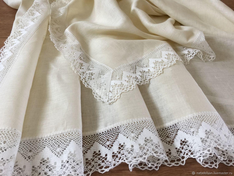 Linen tablecloth ' champagne ', Tablecloths, Ivanovo,  Фото №1
