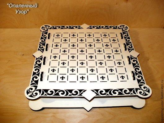 Настольные игры ручной работы. Ярмарка Мастеров - ручная работа. Купить Шахматная доска. Handmade. Белый, подарок для мужчины