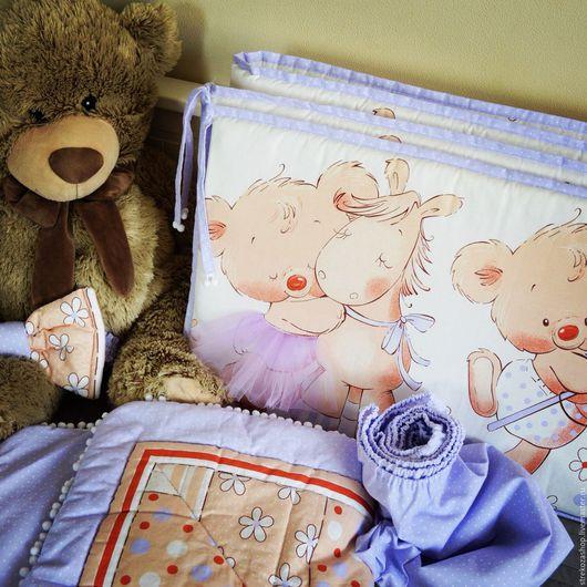 Детская ручной работы. Ярмарка Мастеров - ручная работа. Купить Коплект в детскую кроватку (бортики,простыня, одеяло-конверт).. Handmade.