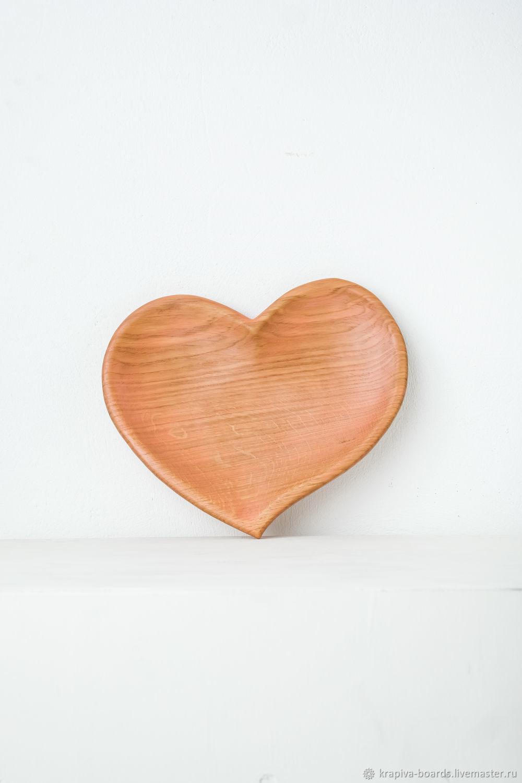 Дубовая тарелка Сердце, Утварь, Смоленск,  Фото №1