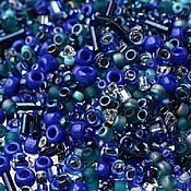 Материалы для творчества handmade. Livemaster - original item 10g Toho MIX 3224 blue green Japanese beads TOHO Mahou. Handmade.