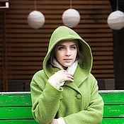 Одежда ручной работы. Ярмарка Мастеров - ручная работа Пальто зима  зимнее на утеплителе с капюшоном Худи зима ЯБЛОКО зимнее. Handmade.