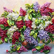 Картины и панно handmade. Livemaster - original item Lilacs in a clay jug. Handmade.