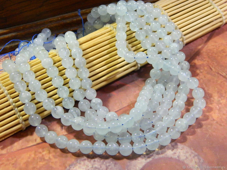 Аквамарин бусины нежно голубой 8 мм(АК02). шт, Бусины, Саратов,  Фото №1