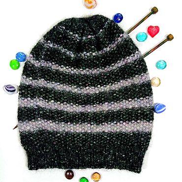 Accessories handmade. Livemaster - original item Knitted warm women`s beanie hat two-tone. Handmade.