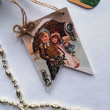 """Сувениры и подарки. Ярмарка Мастеров - ручная работа Ёлочная игрушка """"Christmas"""". Handmade."""