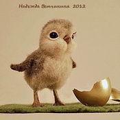 """Куклы и игрушки ручной работы. Ярмарка Мастеров - ручная работа Цыпленок """"Клювик"""". Handmade."""