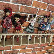 Мебель для кукол ручной работы. Ярмарка Мастеров - ручная работа Кукольная полка - балкон к домику. Handmade.