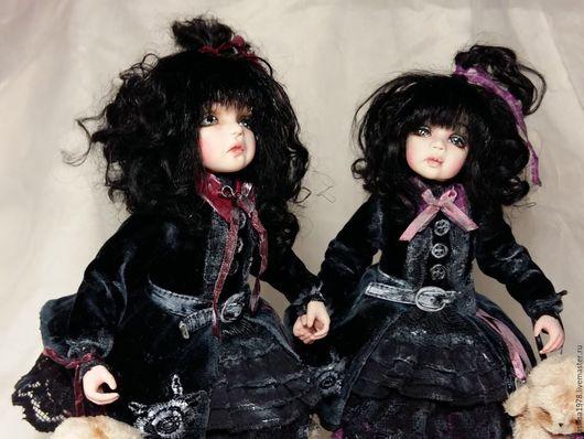 Коллекционные куклы ручной работы. Ярмарка Мастеров - ручная работа. Купить Сестренки Айона и Тара. Handmade. Черный, авторская кукла
