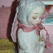 Куклы и игрушки ручной работы. Ярмарка Мастеров - ручная работа Зайка тедди долл белая. Handmade.