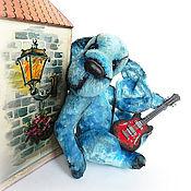 """Тедди Зверята ручной работы. Ярмарка Мастеров - ручная работа """"Музыка старого Бремена"""" пес тедди, щенок тедди. Handmade."""
