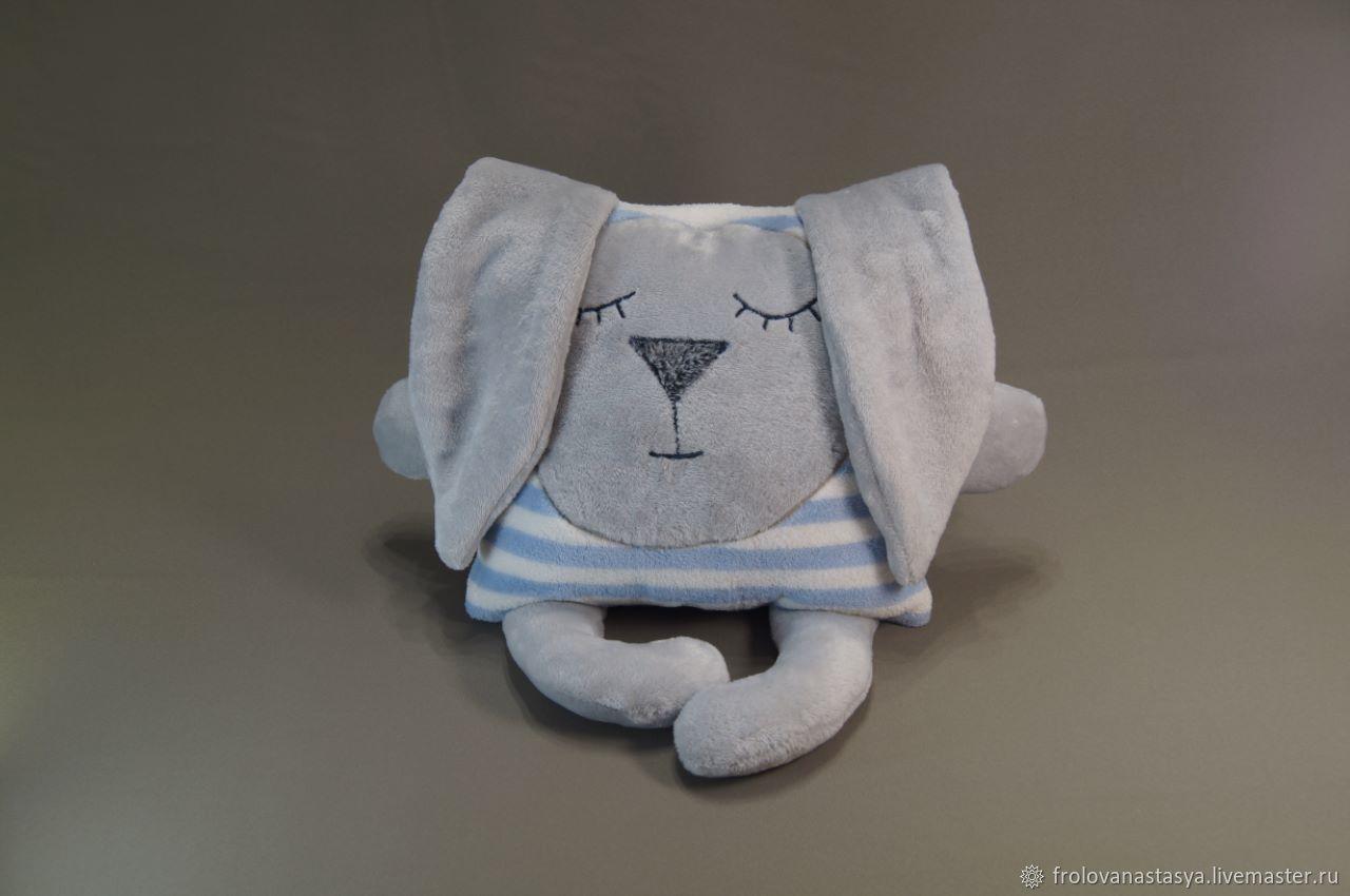 Подушка игрушка зайка Засыпайка, Подушки для детей, Химки,  Фото №1