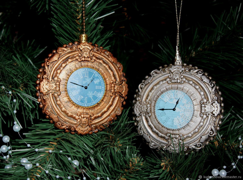медальон Старинные часы, Елочные игрушки, Фролово,  Фото №1