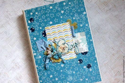 Фотоальбомы ручной работы. Ярмарка Мастеров - ручная работа. Купить Фотоальбом для новорожденного в переплете. Handmade. Разноцветный, первый год жизни, кружево