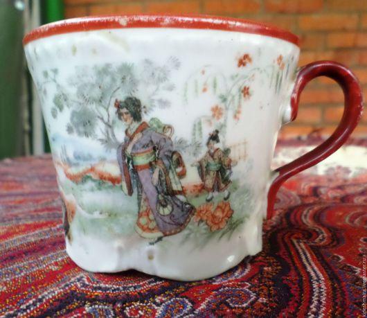 Винтажная посуда. Ярмарка Мастеров - ручная работа. Купить Красивая чашечка.. Handmade. Черный, фарфор, старинный