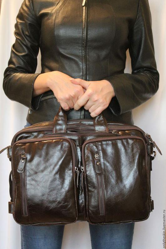коричневыйрюкзак сумкарюкзак ручной работысумка трансформеррюкзак из кожиподарок мужчине мужусумка ручной работысумка из натуральной кожисумка на каждый деньсумка кожанаямужская сумка из кожисумка для