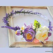 """Украшения ручной работы. Ярмарка Мастеров - ручная работа Венок из цветов """"Лаванда с цветами"""", прованс, для фотосессии,свадебный. Handmade."""
