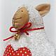 Куклы Тильды ручной работы. Овечка Тильда. Яна (HomelyGifts). Ярмарка Мастеров. Овечка текстильная, овечка символ 2015 года