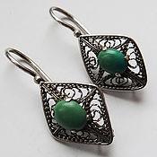 Винтаж handmade. Livemaster - original item Nickel silver, turquoise. Handmade.