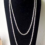 handmade. Livemaster - original item Silver chain necklace from Monet. Handmade.