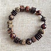 handmade. Livemaster - original item Bracelet For the soul. Therapeutic amber, wood, coconut, agate dzi. Handmade.