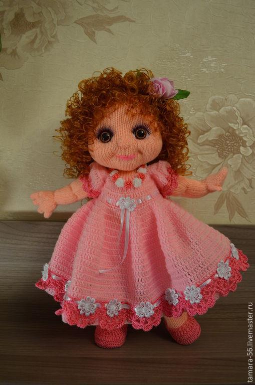 """Человечки ручной работы. Ярмарка Мастеров - ручная работа. Купить Кукла вязаная """"Розита"""". Handmade. Розовый, акриловая пряжа"""