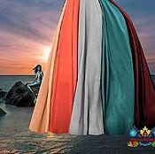 """Одежда ручной работы. Ярмарка Мастеров - ручная работа Разноцветная юбка в пол """"Дива"""" 10-клинка из шифона. Handmade."""