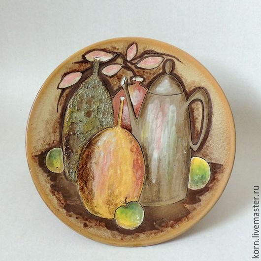 """Натюрморт ручной работы. Ярмарка Мастеров - ручная работа. Купить """"Осенний натюрморт"""". Handmade. Натюрморт, кувшины, кухня, бежевый, охра"""