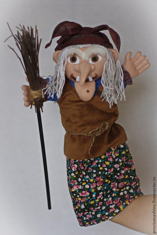 Кукла на руку баба яга своими руками