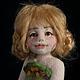 Коллекционные куклы ручной работы. Авторская войлочная кукла Луговая Маша. Анна Потапова. Ярмарка Мастеров. Авторская работа, для дачи