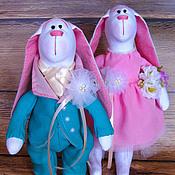 """Куклы и игрушки ручной работы. Ярмарка Мастеров - ручная работа Свадебные зайки """"Forever in love"""". Handmade."""