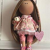 Куклы и игрушки ручной работы. Ярмарка Мастеров - ручная работа Интерьерная текстильная кукла Девочка Праздник)). Handmade.