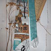 Аксессуары ручной работы. Ярмарка Мастеров - ручная работа Январь - шелковый галстук с ручной росписью. Handmade.